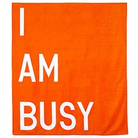 Rirkrit Tiravanija - I AM BUSY BEACH TOWEL