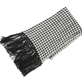 TOM FORD - Checkered Pattern Cashmere Stole