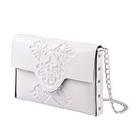 Medusa Brand - mini clutch/White
