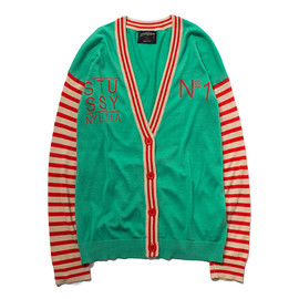 STUSSY WOMEN - Striped Letterman Cardy