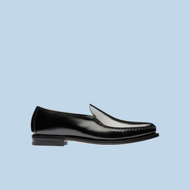 PRADA - BRUSHED CALF LEATHER UNLINED MOCASSIN
