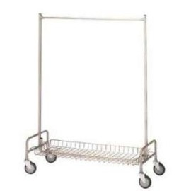 "PACIFIC FURNITURE SERVICE - 48"" GARMENT RACK with  Basket Shelf"