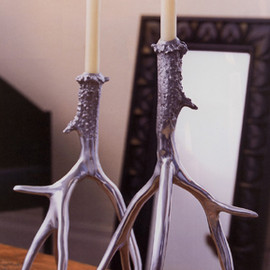 Roost - Polished Antler Candlesticks by Roost