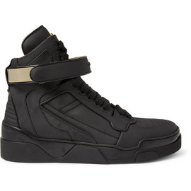 Givenchy - Metal-Trimmed Leather High Top Sneakers