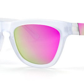 Vanguard 18 square-frame acetate and gunmetal-tone mirrored sunglasses