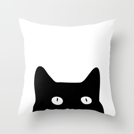 Society6 - Black Cat by Good Sense