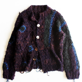 UNUSED × HARAPOS REALES - hand made knit cardigan