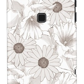 SECOND SKIN - uistore 「Nostalgic Flower (Monochrome)」 / for ARROWS X F-02E/docomo