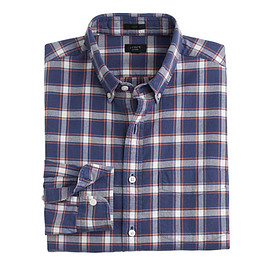 J.CREW - SLIM VINTAGE OXFORD SHIRT IN BALTIC SEA CHECK