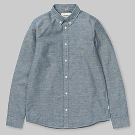 Carhartt WIP - L/S Kyoto Shirt - Blue (Stone Washed)