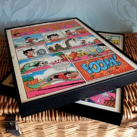 Luulla - Upcycled Comic Book Pages - two framed complete pages