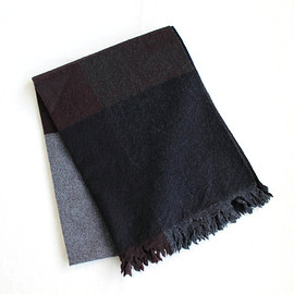 COMME des GARCONS HOMME - Wool Check Muffler #black×brown×gray