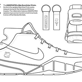 UNDEFEATED, NIKE - Coloring Book - Zoom Kobe 1 Protro (Undefeated)