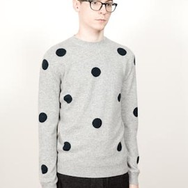 CHAUNCEY - CHAUNCEY Autumn Winter 11-12 collection - Polka dots crew neck