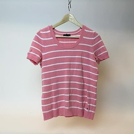TOMMY HILFIGER - Pink/White Striped Knitted Sweater