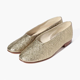 martiniano - metallic leather pumps