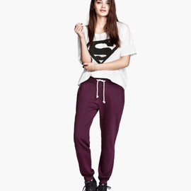 H&M - Sweatpants - Burgundy