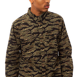 OBEY - Field Assassin Buttondown - Tiger Camo