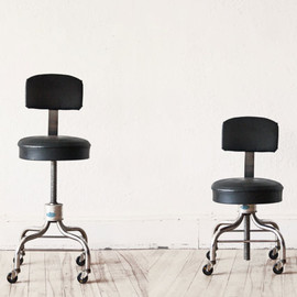 Adjustable Black Chair Stool Office Desk Studio