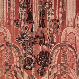 Art deco fabric from the book, Art Deco Textiles by Alain-Rene Hardy:art deco design