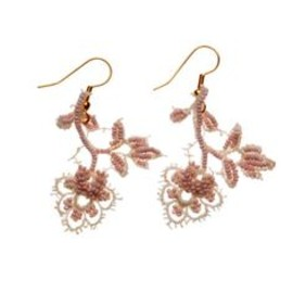 Light pink flowers earrings