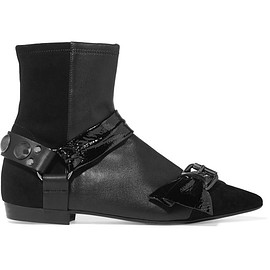 Isabel Marant - Reidya patent-paneled leather and suede ankle boots