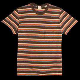 Levi's Vintage Clothing - 1960s Casual Stripe Tee in Durango Brown