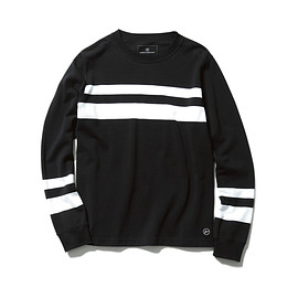 uniform experiment - TWO LINE CREW NECK CUT & SEWN