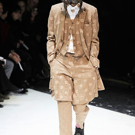 COMME des GARÇONS HOMME PLUS - long jacket with printed dots (wool mixd alpaca) Fall 2010 Menswear