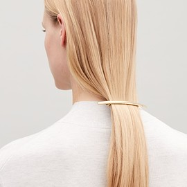 COS - Metal hair clip in Gold