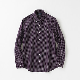 FRED PERRY - Dot Print Shirt/F4359/WINE