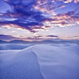 The Milky Way over White Sands