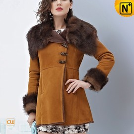 cwmalls - Ladies Winter Long Shearling Coat CW644133