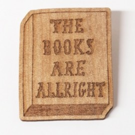 TAB×ON READING - THE BOOKS ARE ALLRIGHT ブローチ / TAB×ON READING