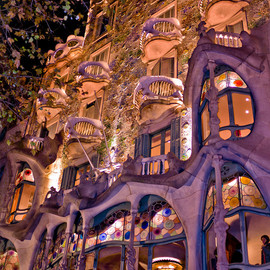 Spain : Passeig de Gracia 43, 08007 Barcelona - Casa Batlló :Works of Antoni Gaudí