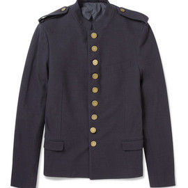 LANVIN - Unlined Cotton Twill Military Jacket