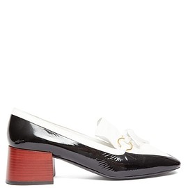 LOEWE - Square-toe leather block-heeled loafers(SS2020)