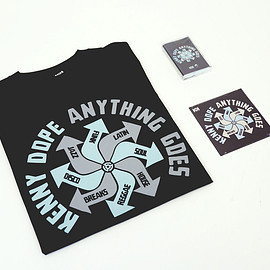 """KENNY DOPE - KENNY DOPE """"ANYTHING GOES"""" MIX CD, T-SHIRT & LIMITED EDITION CASSETTE"""