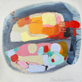 Claire Desjardins - Favorite Sandy Beach, 2012, acrylic on canvas