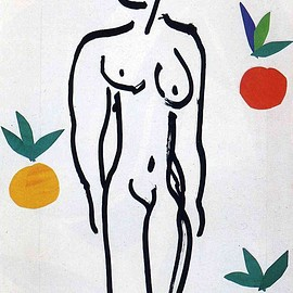 henri matisse - nude with oranges