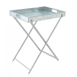 THE CONRAN SHOP - GALVANIZED BUTLER'S TRAY WITH IRON STAND