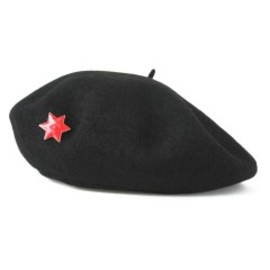 PEEL&LIFT - Basque Beret with David's Star (black)