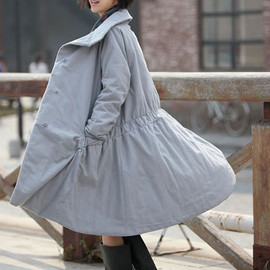 MaLieb - Winter warm waist drawstring loose padded Overcoat