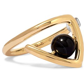 URiBE - Zaha gold-plated agate ring