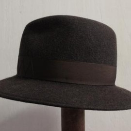 TAKAHIROMIYASHITA The SoloIst. - crusher hat. -dk.brown×chocolate brown-