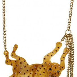 Tatty Devine - Leopard Necklace - caramel