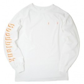 Goodblank - Shade Logo Long Sleeve TEE WHT×OPTIC ORANGE