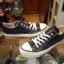 """converse - 「<used>70's converse CHUCK TAYLOR OX black""""made in USA"""" size:US4/h 10000yen」販売中"""