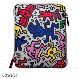 Colors Tokyo - Keith Haring Collection Sleeve for iPad/iPad 2 / 2011 - Chaos/White