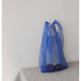 blue mesh shopping bag